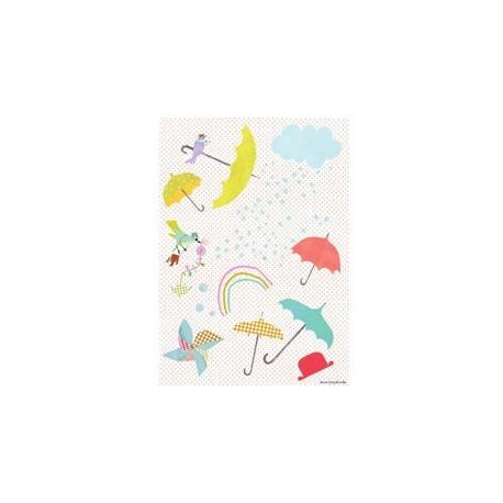 stickers 'les parapluies'
