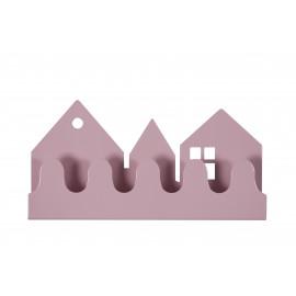 patère en métal - village violet